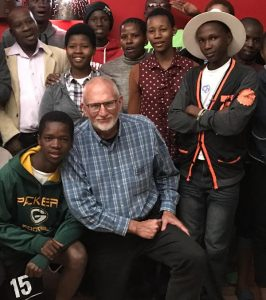 Peter Kopp with the first generation of ALP kids